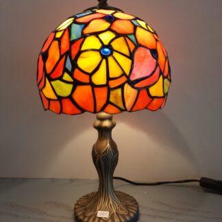 Tiffany Bordlamper, Højde ca. 38 cm, Skærm Ø 20 cm