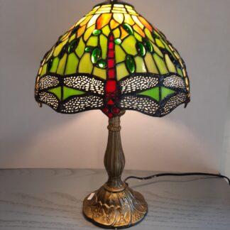 Tiffany Bordlamper, Højde ca 42 cm Skærm Ø 25 cm