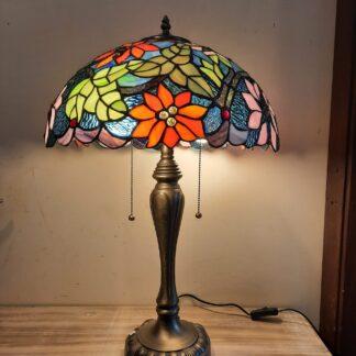 Tiffany Bordlamper, Højde ca 60 cm, Skærm Ø 40 cm