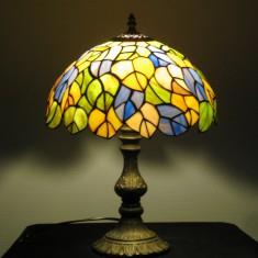 Tiffany Bordlampe skærm 30 cm dia højde 40-50 cm
