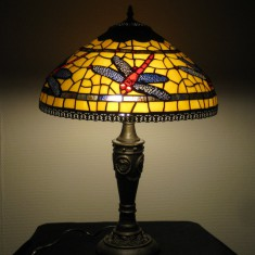 Tiffany Bordlampe skærm 40 cm dia højde 60-65 cm
