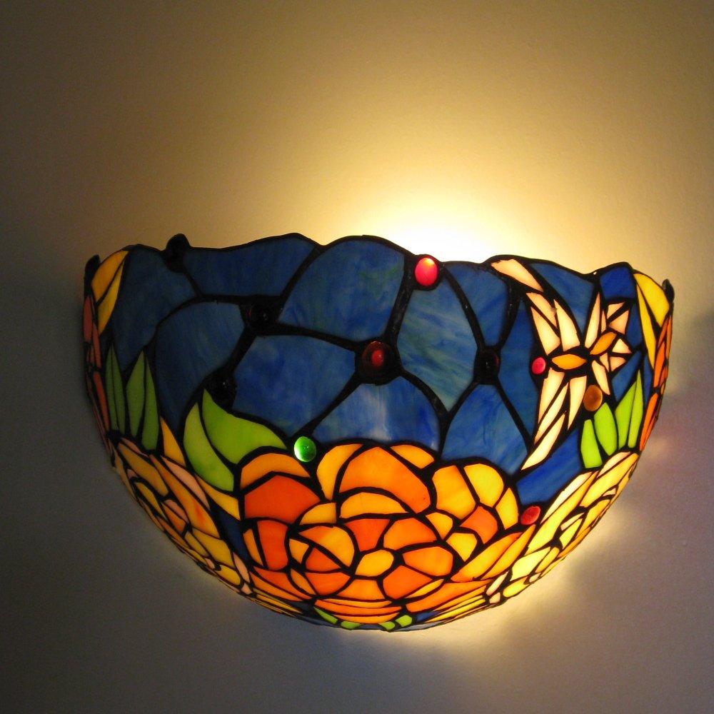 Farverig flot Tiffany væglampe