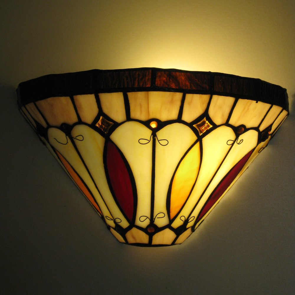 Tiffany væglampe art deco