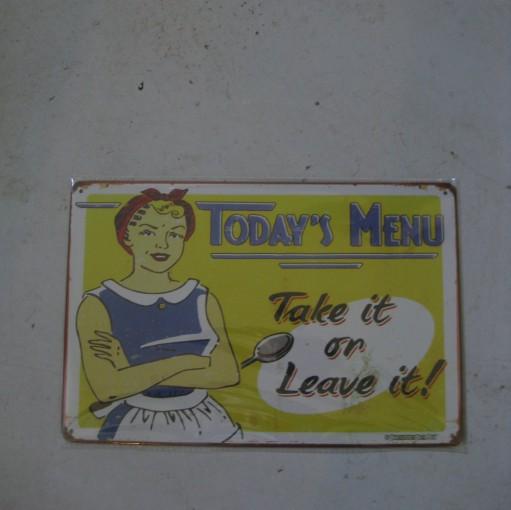 skilt todays  menu